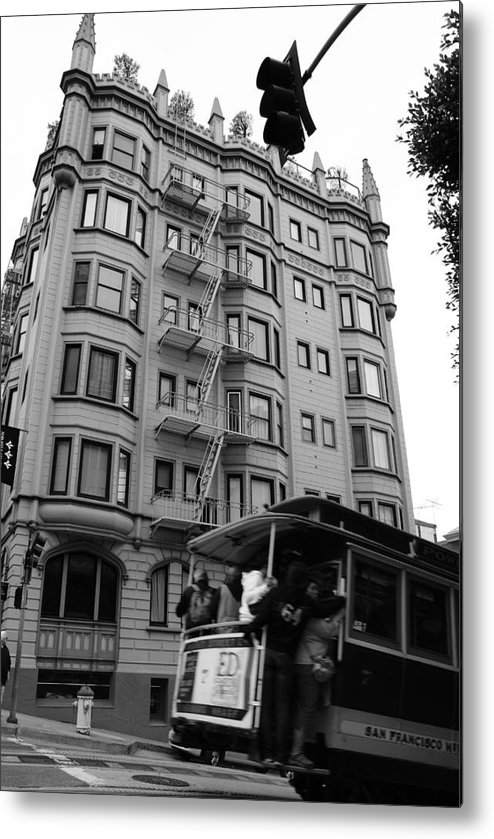 Building Metal Print featuring the photograph San Fran Trolley by Brian Anderson