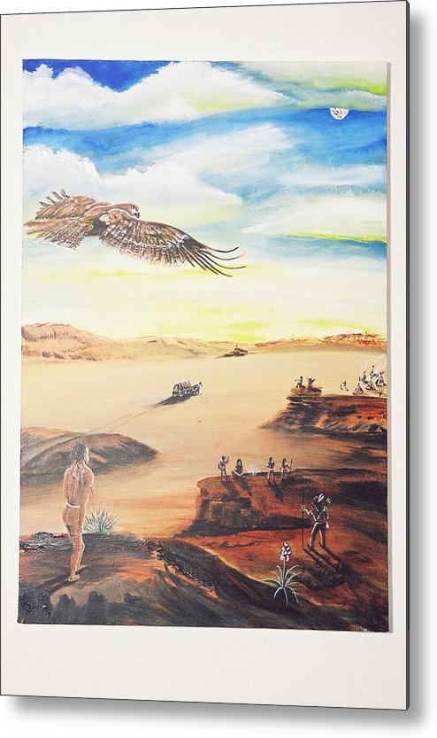 Metal Print featuring the painting Seeding The America by Christopher Miles