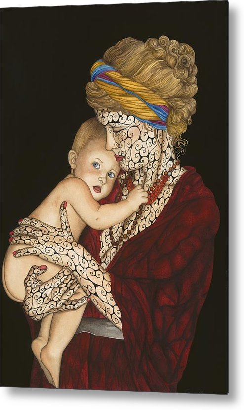 Figure Metal Print featuring the painting The Legacy by Tina Blondell