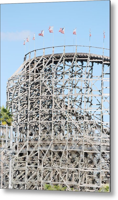 Pop Art Metal Print featuring the photograph Wooden Coaster by Rob Hans