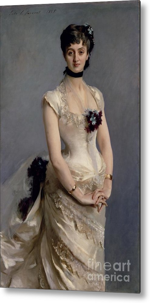 Madame Metal Print featuring the painting Madame Paul Poirson by John Singer Sargent