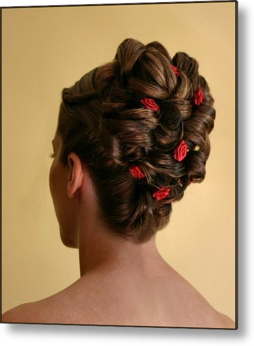 Hairstyle Metal Print featuring the photograph Rosettes by Kristin Elmquist