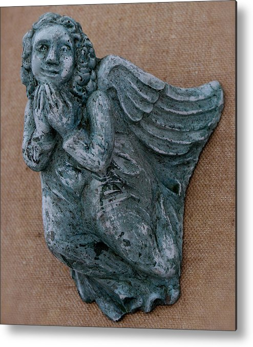 Angel Metal Print featuring the sculpture Angel by Katia Weyher