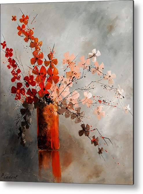 Flowers Metal Print featuring the painting Bunch 670908 by Pol Ledent