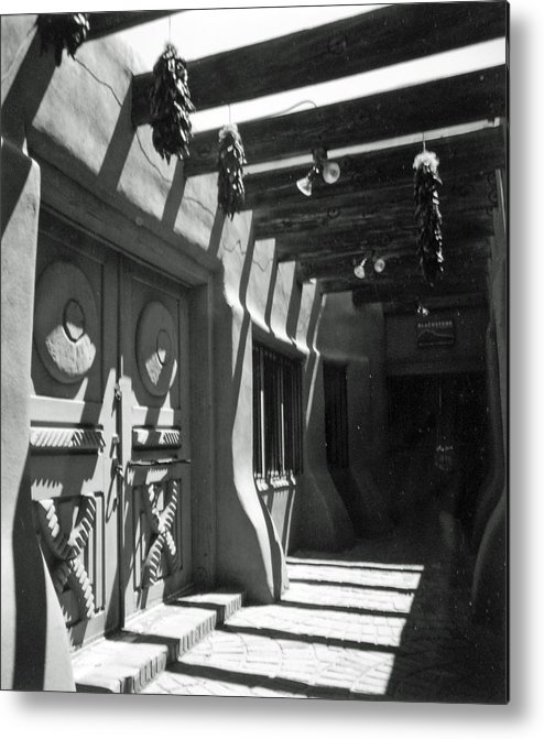 Travel Metal Print featuring the photograph Doors And Shadows by Allan McConnell