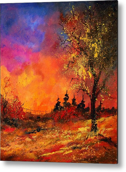 River Metal Print featuring the painting Fall by Pol Ledent