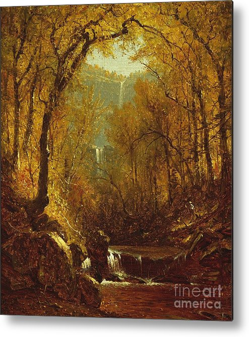 Kaaterskill Metal Print featuring the painting Kaaterskill Falls by Sanford Robinson Gifford