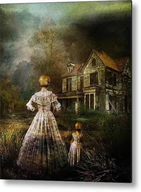 Ghostly Metal Print featuring the digital art Memories by Mary Hood