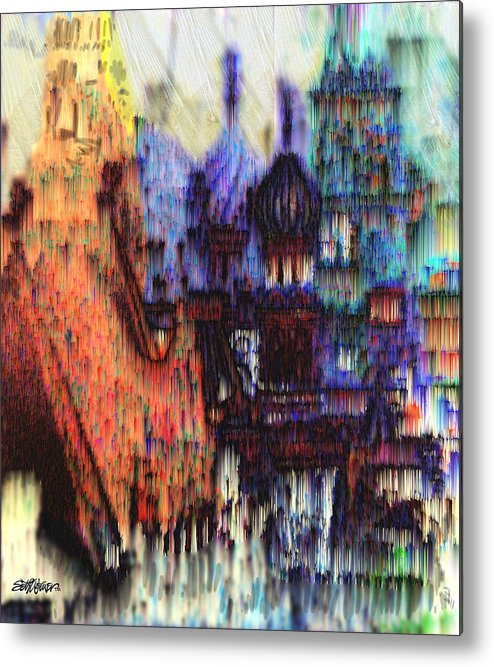 Fog Metal Print featuring the digital art Moscow In The Rain by Seth Weaver