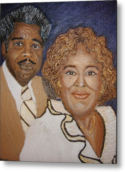 Acrylic Metal Print featuring the painting No Greater Love by Keenya Woods