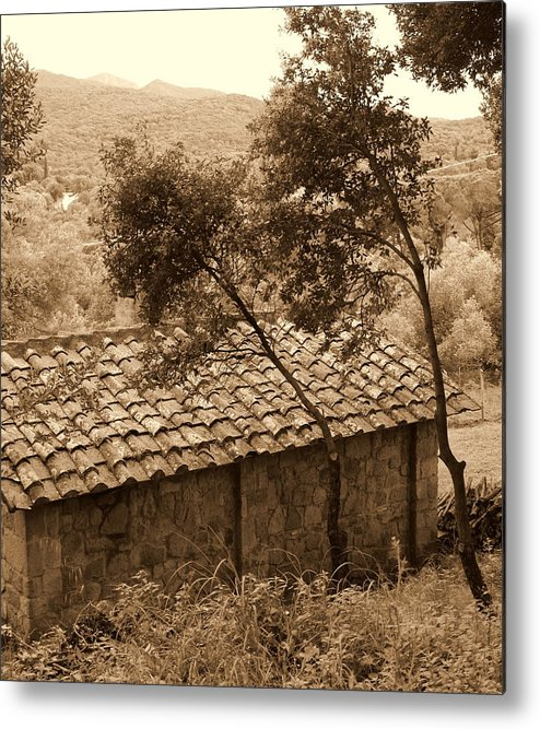Tuscan Old House Metal Print featuring the photograph Old House by Marcello Mellino