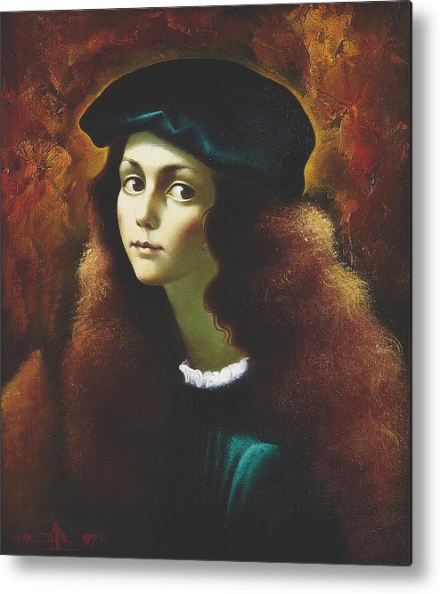 Portrait Metal Print featuring the painting Rafael by Andrej Vystropov