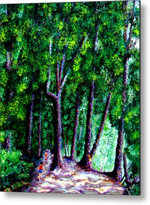 Trail Metal Print featuring the painting The Trail by Stan Hamilton