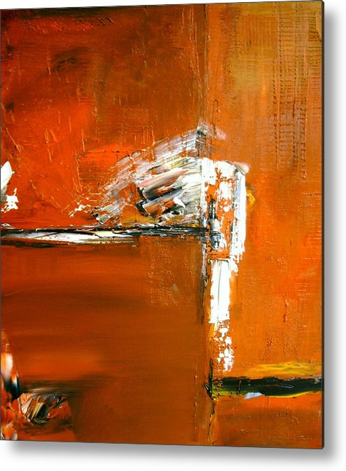 Abstract Metal Print featuring the painting Unravelling The Chaotic Vision by Stefan Fiedorowicz