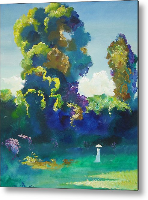 Landscape Metal Print featuring the painting Warm Evening by Andrej Vystropov