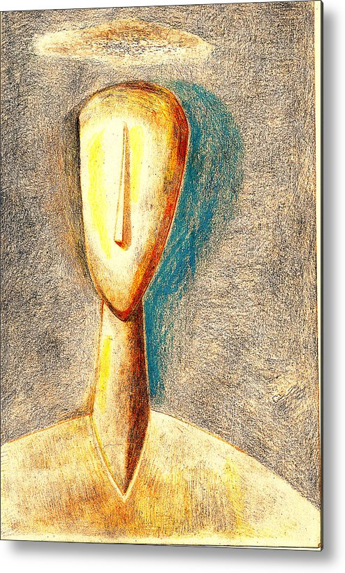 Figure Metal Print featuring the drawing The Nameless And Faceless by Al Goldfarb