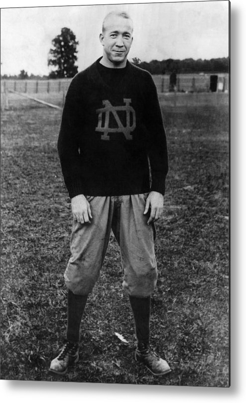 1930s Portraits Metal Print featuring the photograph Knute Rockne, University Of Notre Dame by Everett