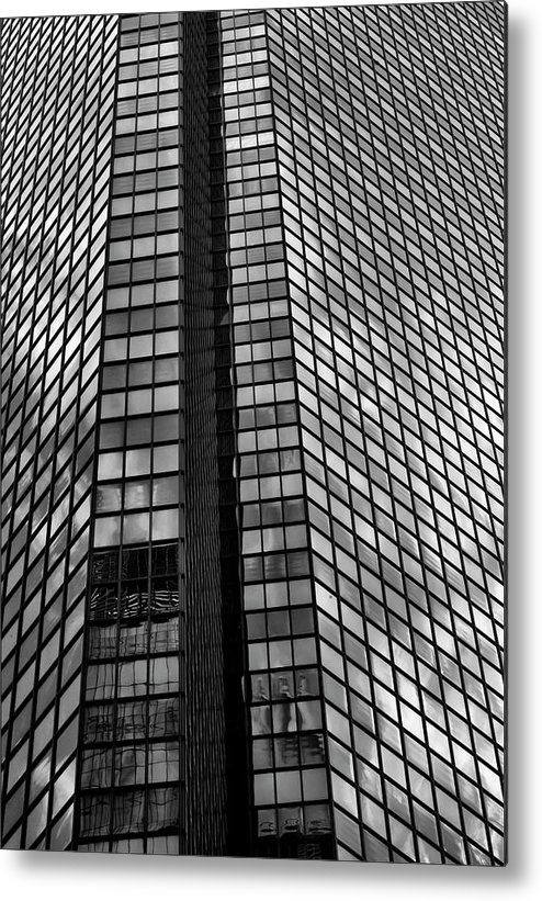 Reflections Metal Print featuring the photograph Reflective Glass And Metal Building by Robert Ullmann