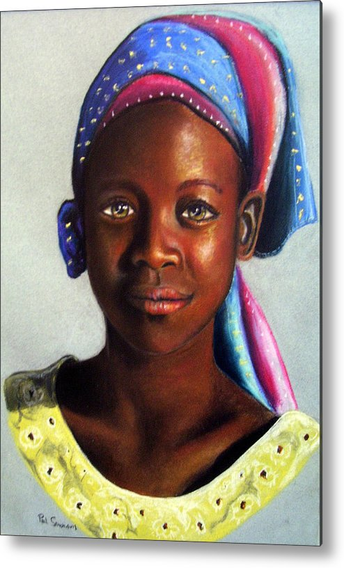 African Metal Print featuring the painting Beauty by Paul Sandilands