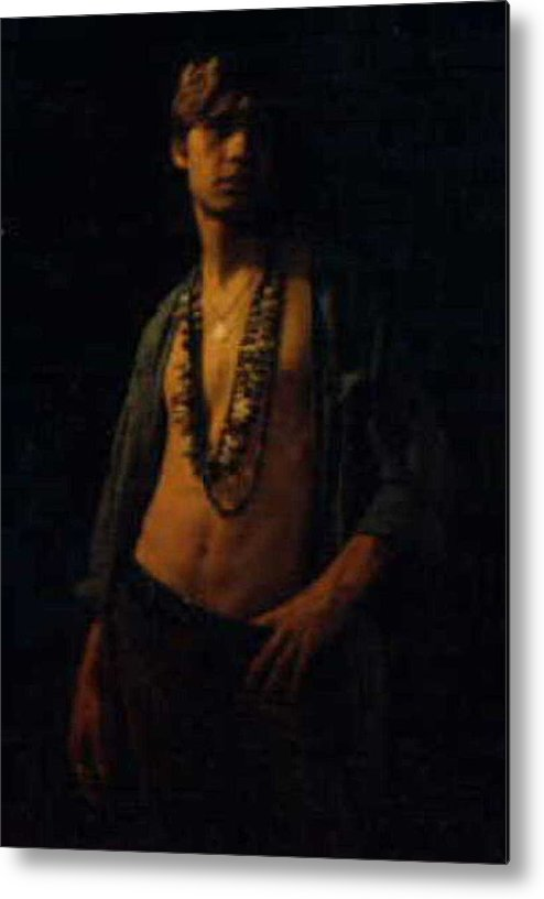Male Metal Print featuring the painting David.03 by Terrell Gates