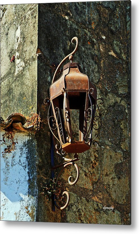 Rusty Metal Print featuring the photograph Iron Lamp 7868 by David Mosby
