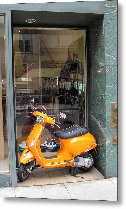 Scooter Metal Print featuring the photograph Perfect Fit by Douglas Pike