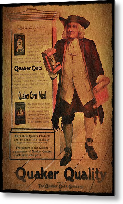 Quaker Metal Print featuring the photograph Quaker Quality by Bill Cannon