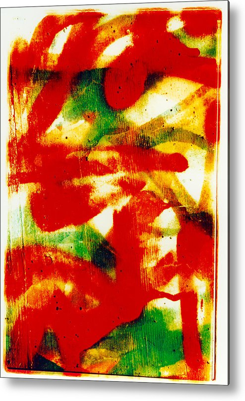 Abstract Metal Print featuring the photograph Salsa by David Rivas