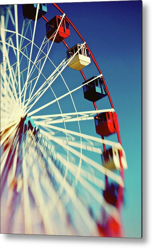 Ferris Wheel Metal Print featuring the photograph Seaside Ferris Wheel by Denise Snyder