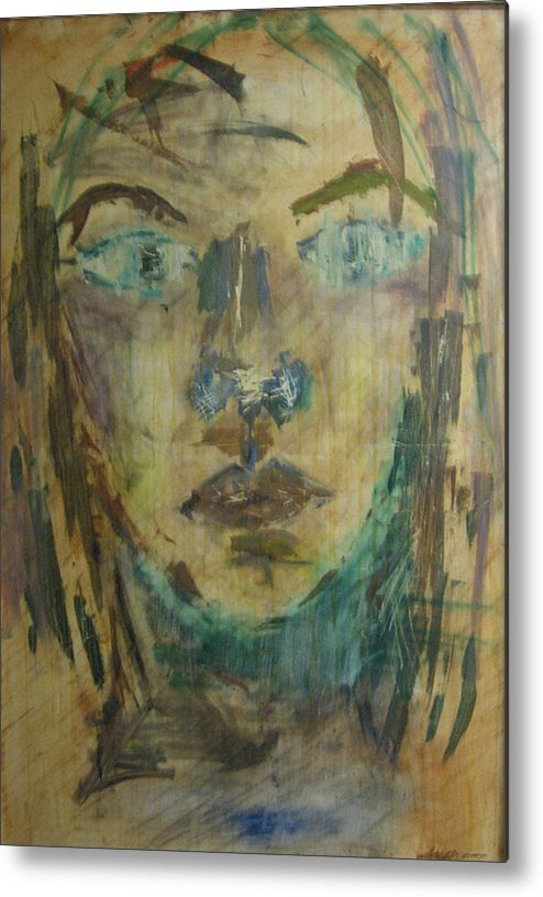 Self Portrait Metal Print featuring the painting Self Portrait by AmyJo Arndt