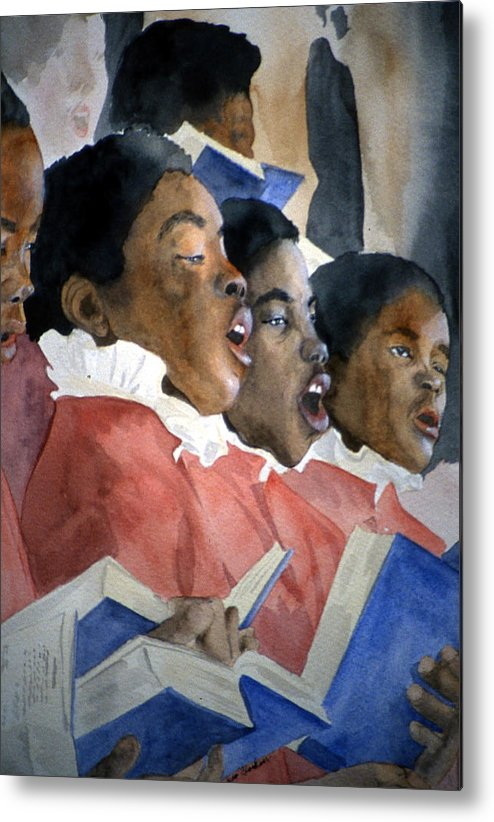 Choir Metal Print featuring the painting Sing Out Your Joy by Jean Blackmer