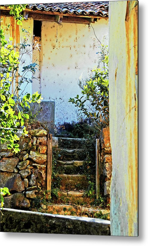 Village Metal Print featuring the photograph Stairway7880 by David Mosby