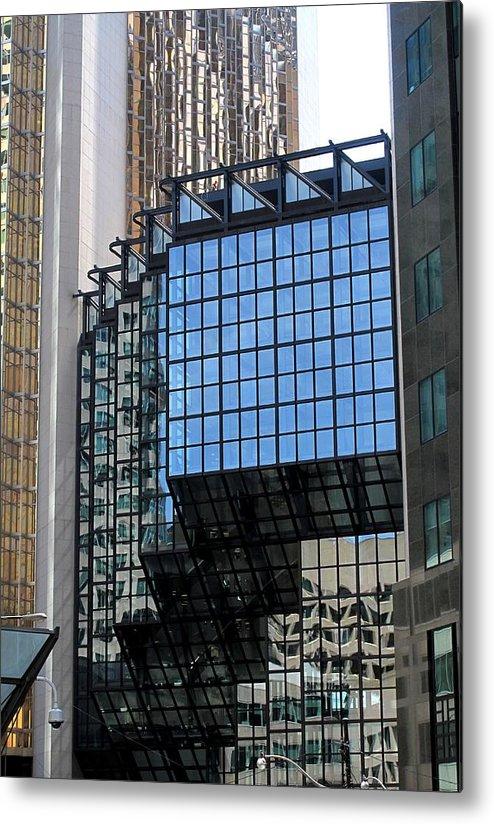Royal Bank Tower Metal Print featuring the photograph Steps by Ian MacDonald