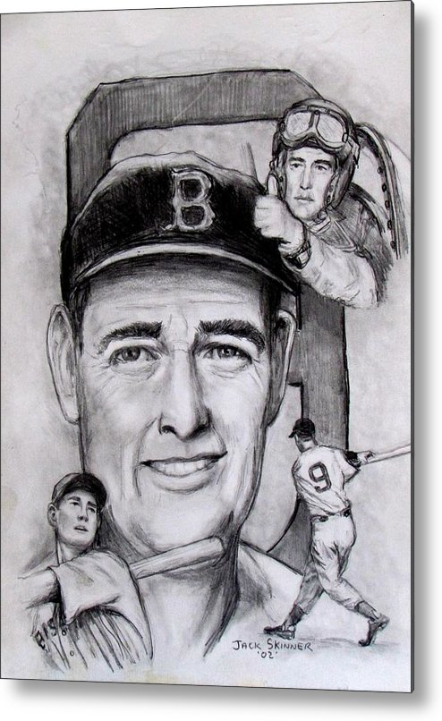 Baseball Metal Print featuring the photograph Ted by Jack Skinner