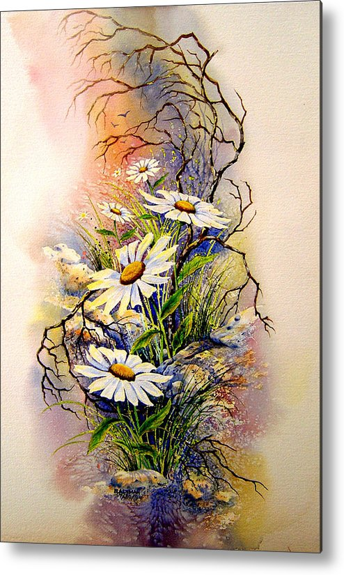 Floral Metal Print featuring the painting Wild Daisies by Brooke Lyman