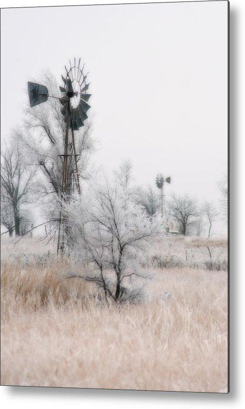 Kansas Metal Print featuring the photograph Windmill Antithesis by Fred Lassmann