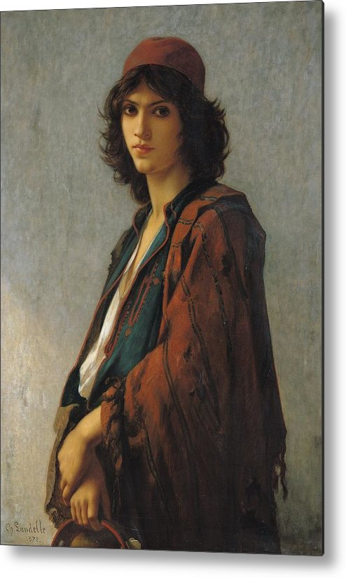 Young Bohemian Serb Metal Print featuring the painting Young Bohemian Serb by Charles Landelle