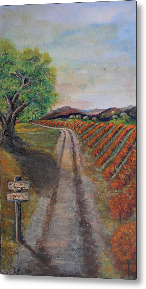 Wine Metal Print featuring the painting Tasting Room by Dixie Adams