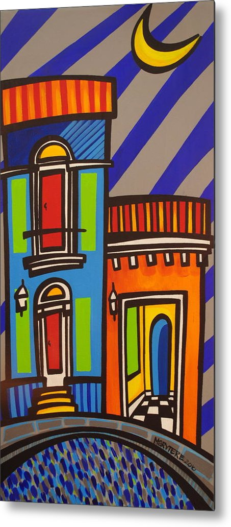 Puerto Rico Metal Print featuring the painting Calle Luna by Mary Tere Perez