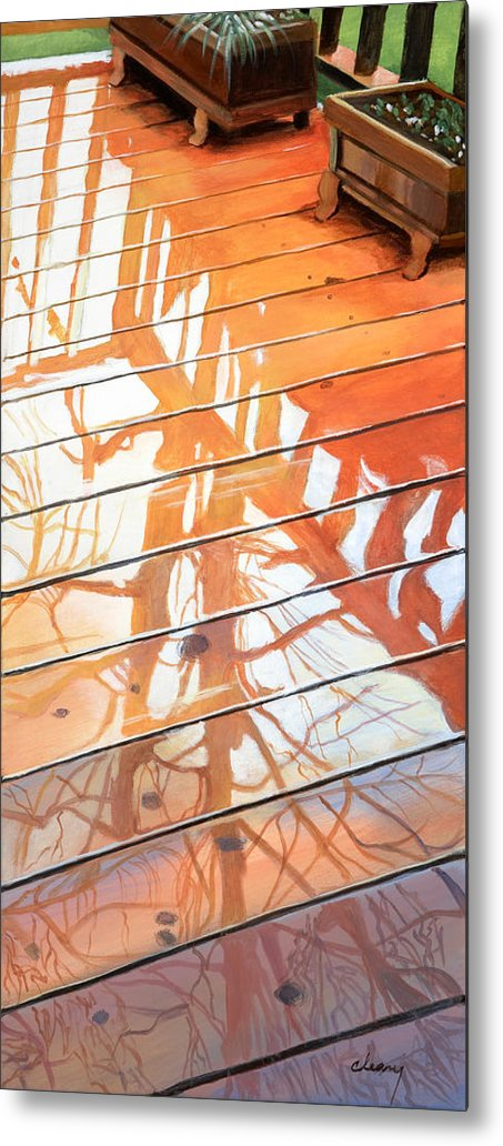 Oregon Metal Print featuring the painting Wet Deck 2 by Melody Cleary