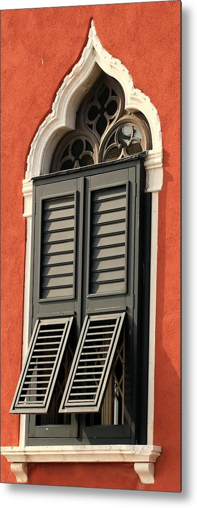 Venice Metal Print featuring the photograph Window In Venice by Michael Henderson
