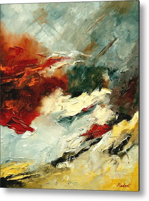 Abstract Metal Print featuring the painting Abstract 9 by Pol Ledent