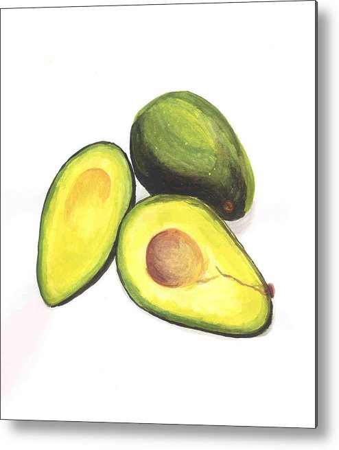 Avaocados Still Life Metal Print featuring the painting Avocados by David Seter