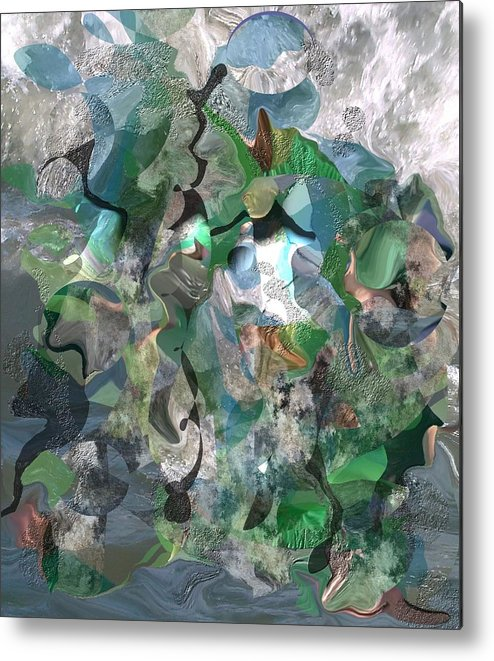 Beach Metal Print featuring the digital art Beach Collage by Peter Shor