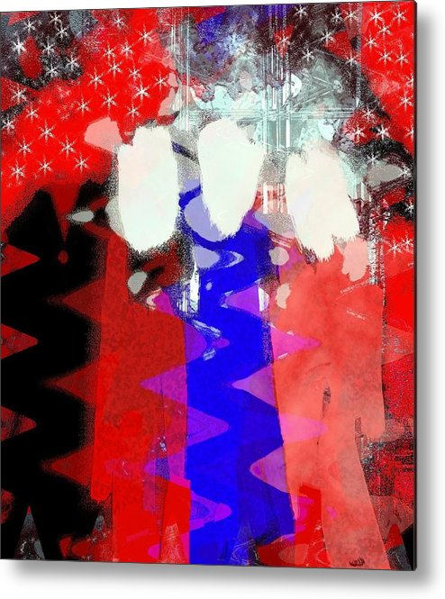 4th Of July Metal Print featuring the painting Celebration 3 by Mimo Krouzian