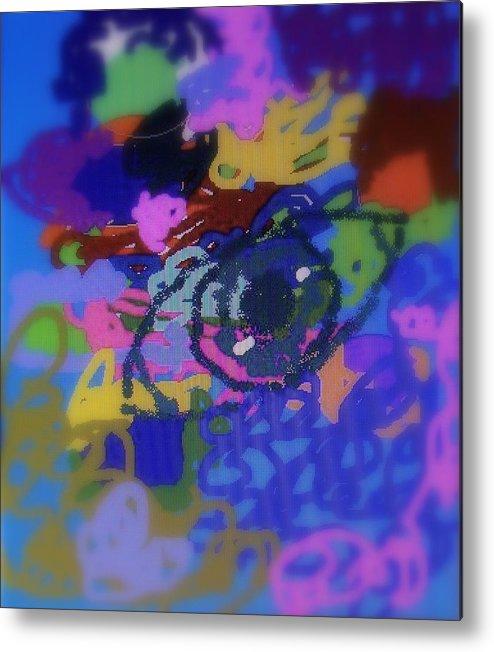 Abstract Metal Print featuring the digital art Eye by Cybele Chaves