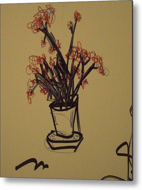 Flowers Metal Print featuring the painting Flowers by Nick Kenworthy
