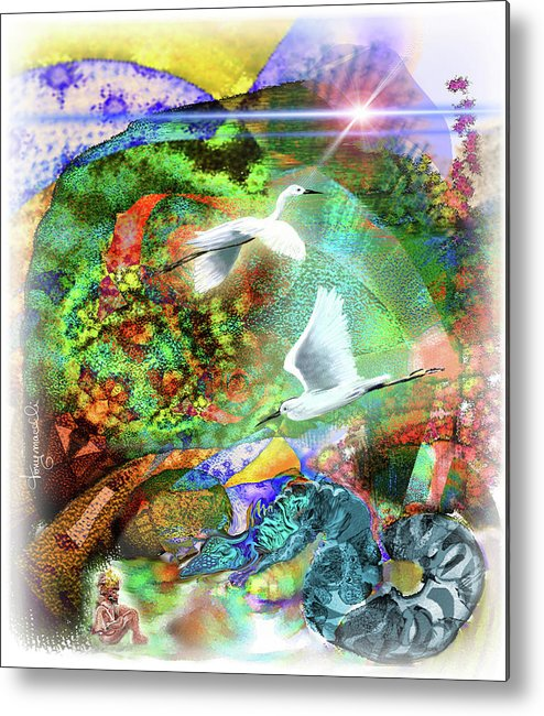 Nature Metal Print featuring the digital art In The Magnificence by Tony Macelli