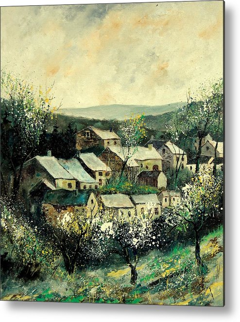 Spring Metal Print featuring the painting Spring In The Ardennes Belgium by Pol Ledent