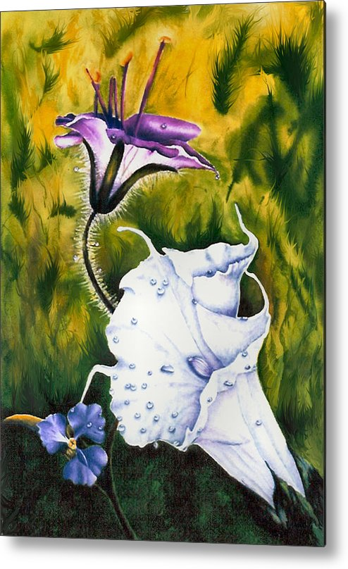 Lily Metal Print featuring the print Cindy's Lily by JoLyn Holladay